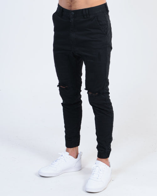 Kiss Chacey Spartan Denim Jogger - Jet Black