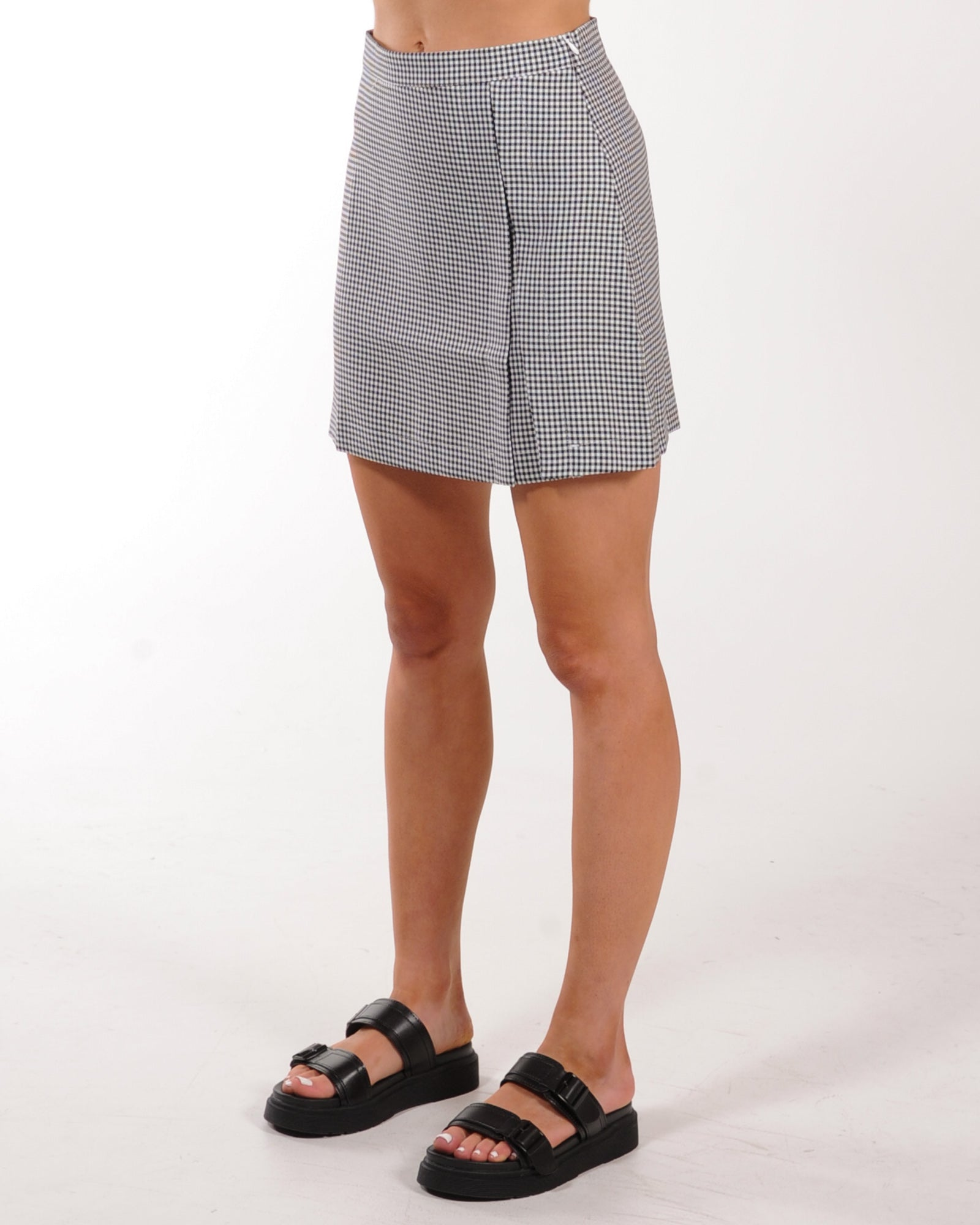 Schoolies Mini Skirt - Black Check