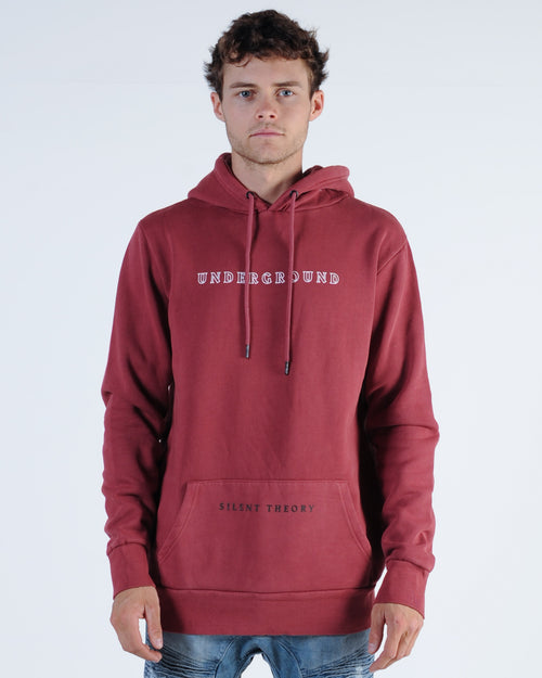 Silent Theory Places Hood Sweat - Burgundy