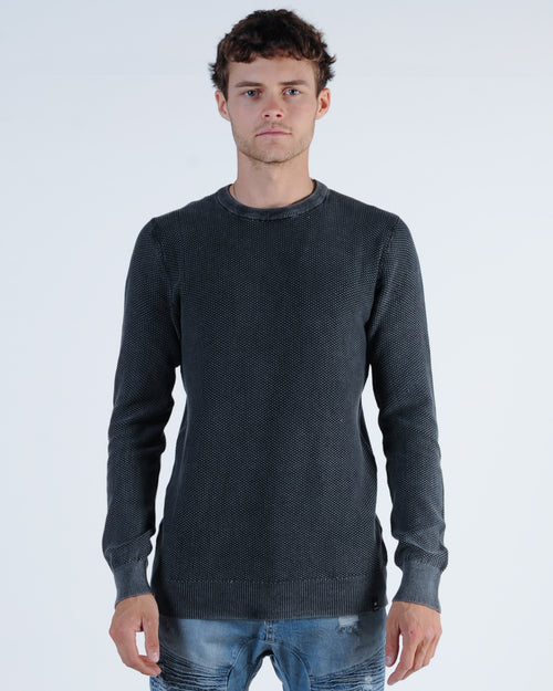 St. Goliath Chigger Crew Knit Jumper - Black