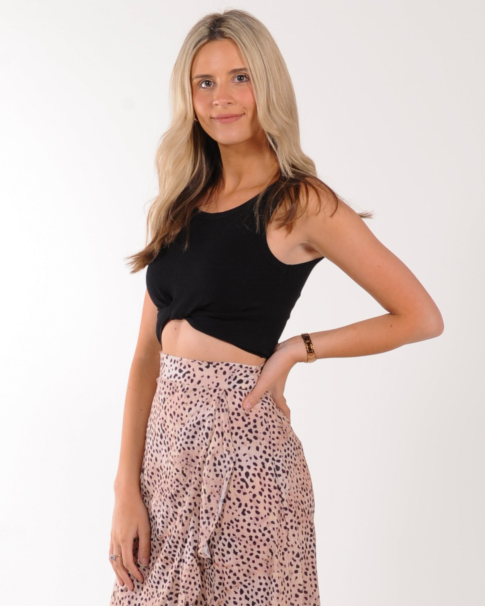 Jorge Harper Crop Top - Black