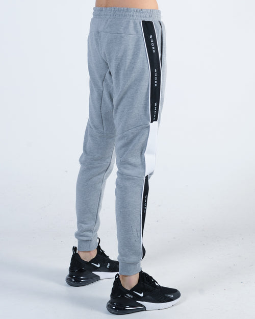 Wndrr Marshall V2 Tech Trackpant - Grey Marle/Black/White