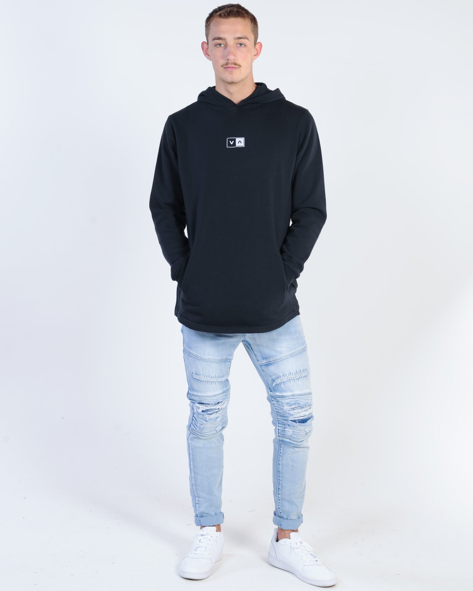 Rvca Upside Hood Sweat - Black
