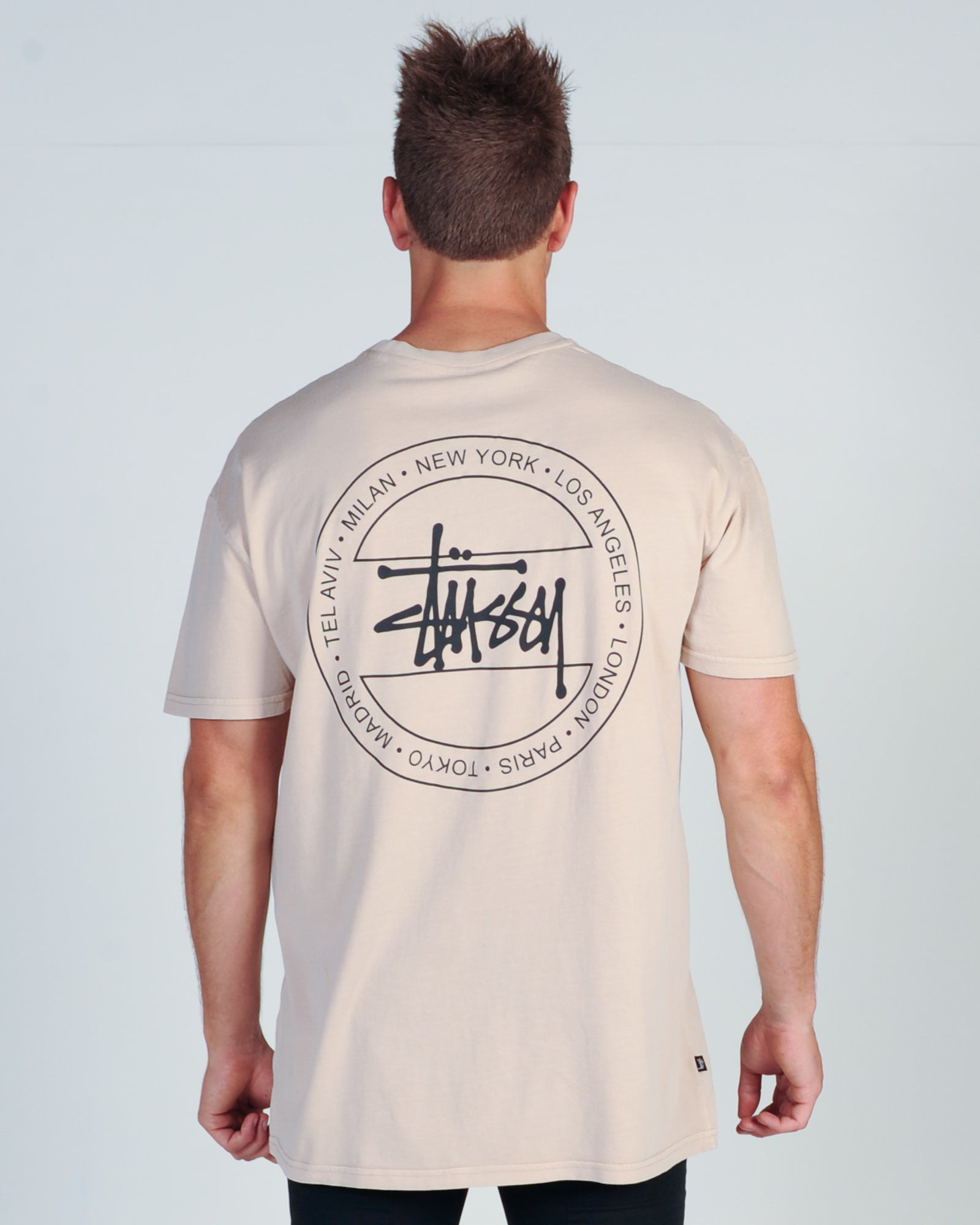 STUSSY GRAFFITI TOUR S/S TEE - PIGMENT DUSTY ROSE