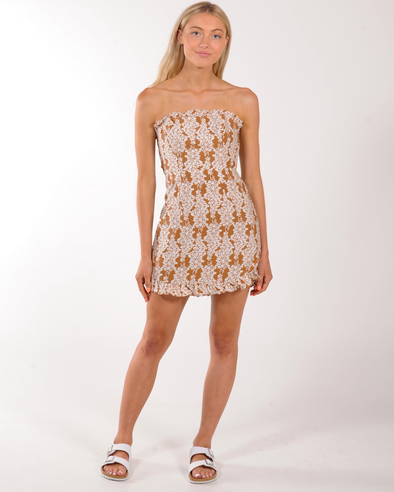 Soho Mini Dress - Tan