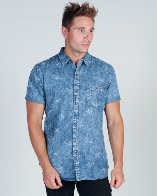 DEACON MOSTA S/S SHIRT - LIGHT BLUE