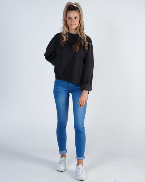 Nude Lucy Booker Oversized Sweat - Washed Black