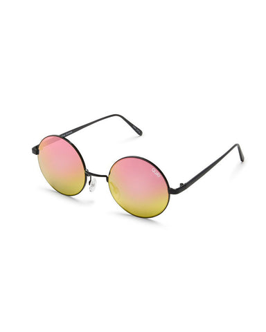 QUAY ELECTRIC DREAMS SUNNIES - BLACK/MIRROR LENS