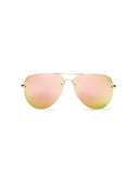QUAY MUSE SUNNIES - GOLD/PINK MIRROR
