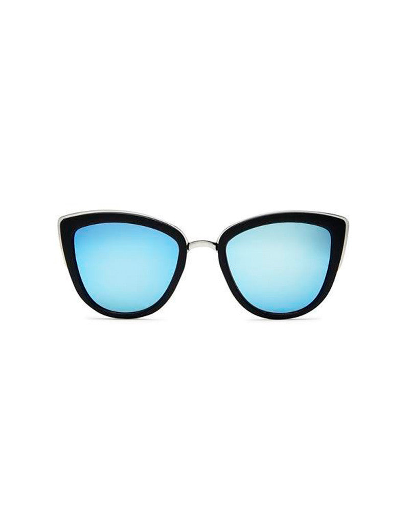 QUAY MY GIRL SUNNIES - BLACK/BLUE MIRROR