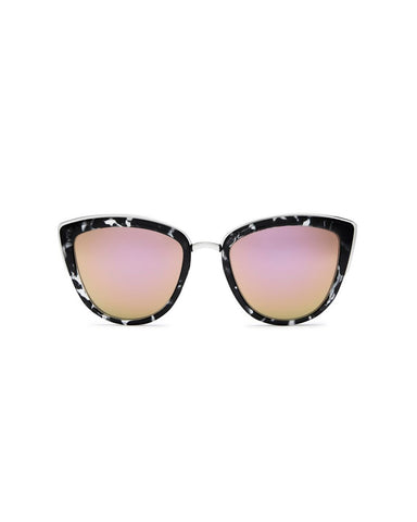 QUAY MY GIRL SUNNIES - BLACK TORT/PINK MIRR