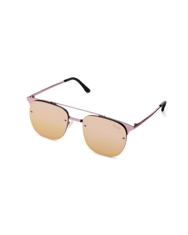QUAY PRIVATE EYES SUNNIES - PINK/ROSE MIRROR