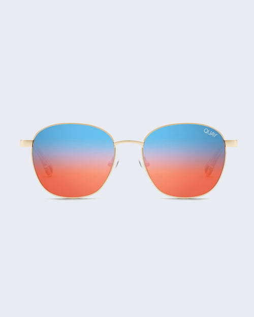 Quay Link Up Sunnies - Gld/Blured