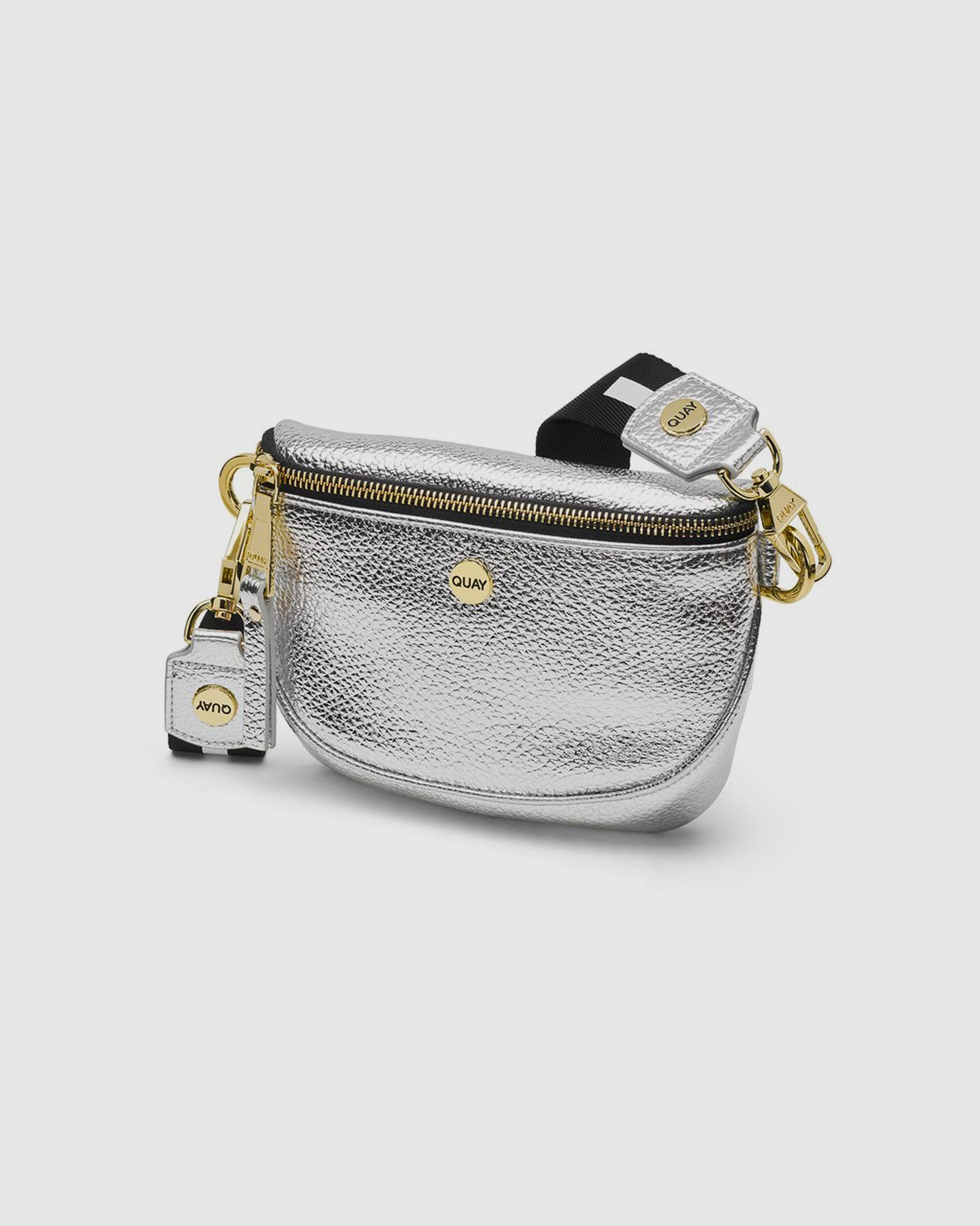 Quay Bum Bag - Silver/Gold