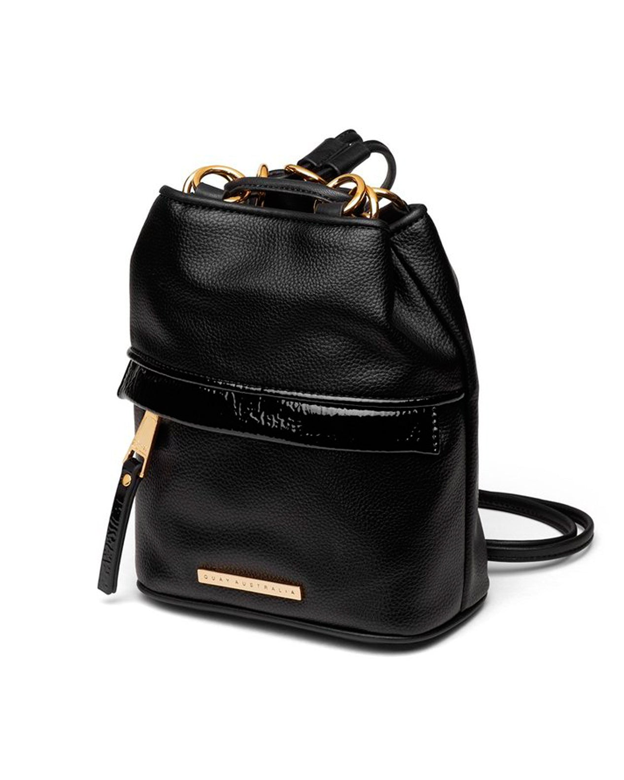 Quay Drawstring Backpack - Black Gold