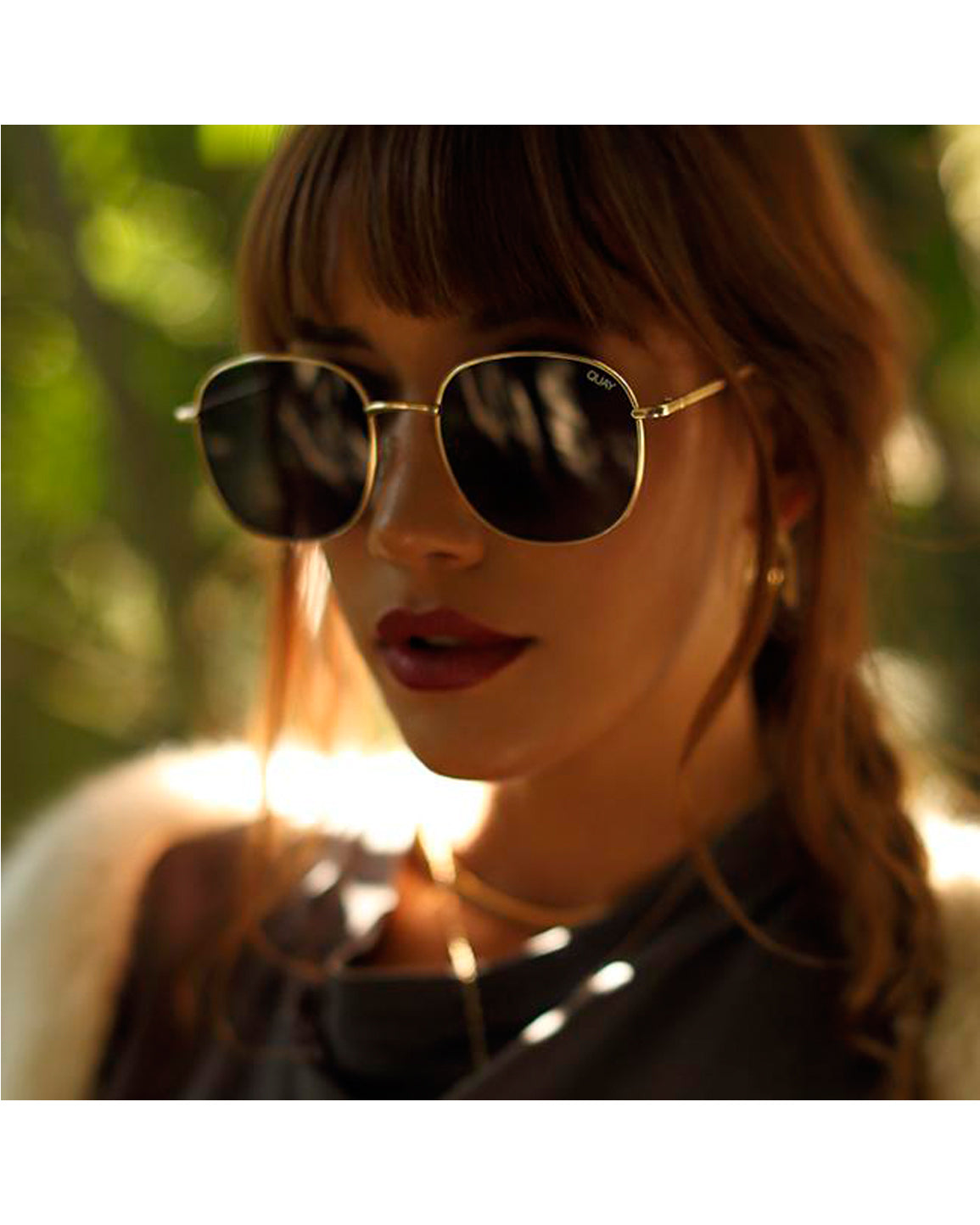 Quay Jezabell Sunnies - Gold Smoke