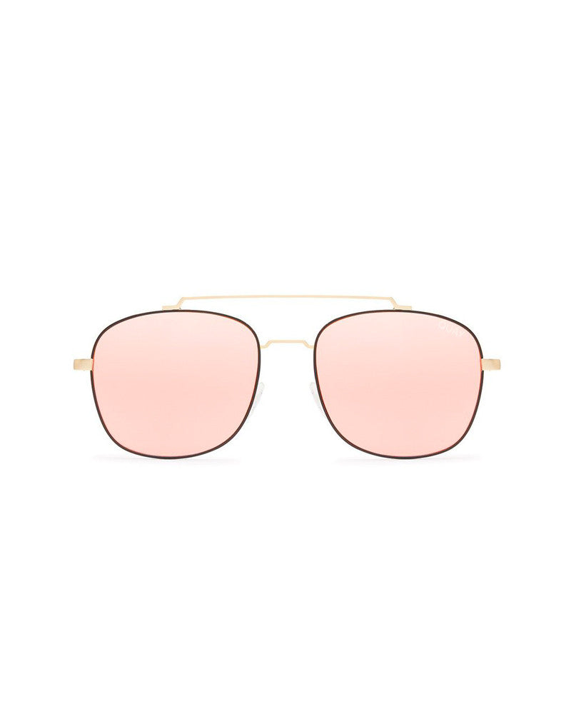 QUAY TO BE SEEN SUNNIES - GOLD/PINK MIRROR