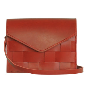 Näver Mini Leather Shoulder Bag | Red