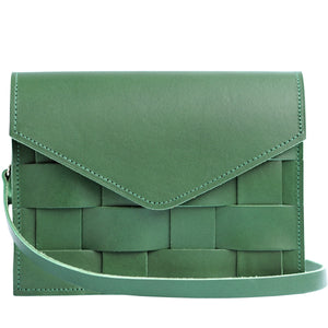Naver shoulderbag, leather, Green Limited Edition from Eduards Accessories. Available at monolocale.no. Slow fashion