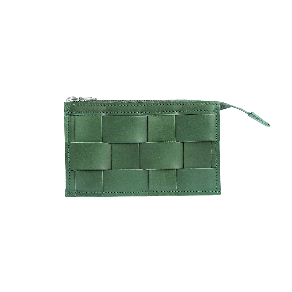 'Näver' Leather Wallet | Green
