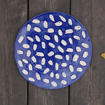 'Plapla' Ceramic Plate | Blue Dots