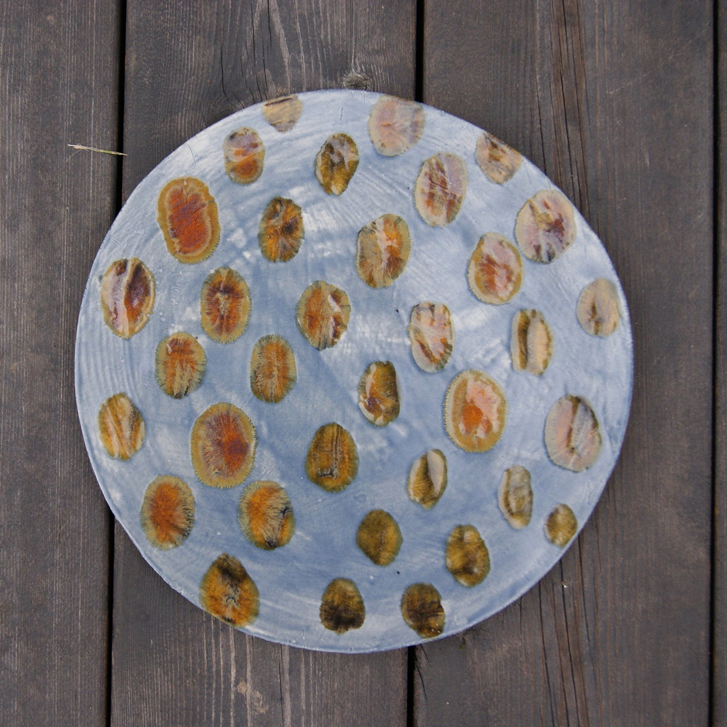 'Plapla' Ceramic Plate | Mustard Dream
