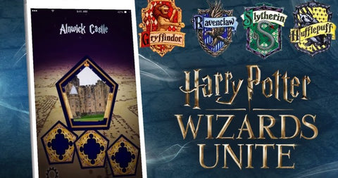 Harry Potter Wizards Unite Maisons Gryffondor Poufsouffle Serdaigle Serpentard GEEKABRAK