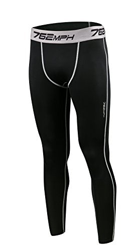 762MPH Men's Compression Quick Cool Dry Running Long Pants Tights
