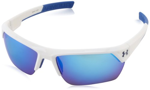 Under Armour Igniter II Shiny White Frame w/ Blue Mirror Lens Sunglasses