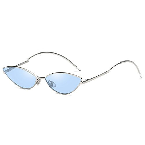 2e951d81b SIKYGEUM Sexy Small Cat Eye Sunglasses Women Retro Slim Metal Frame Dr -  Discount Sporting Store
