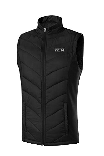 TCA Men's Excel Runner Thermal Lightweight Running Vest/Bodywarmer With Zip