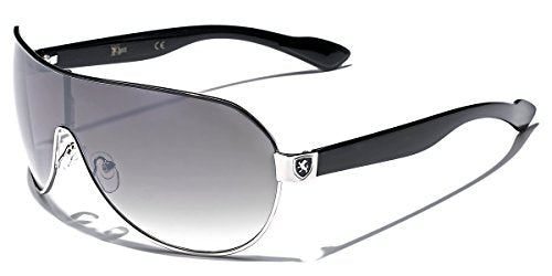 Men's Flat Top Sport Shied Aviator Sunglasses - Multiple