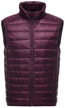 Sawadikaa Men's Packable Ultra Light Padded Down Puffer Vest Coat Winter