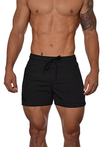 YoungLA Men's Bodybuilding Lift Shorts W/Zipper