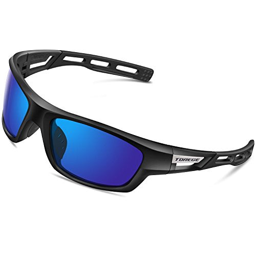 098fe83948c TOREGE Polarized Sports Sunglasses for Men Women Cycling Running Drivi -  Discount Sporting Store