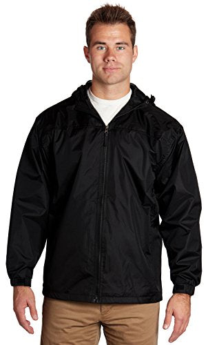 Equipment De Sport USA Men's Lined Hooded Wind Resistant/Water Repellent Windbreaker
