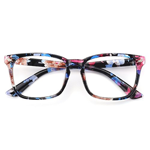 1b8b7bb8757 Slocyclub Blue light Blocking Glasses Vintage Nerd Square Keyhole Desi -  Discount Sporting Store
