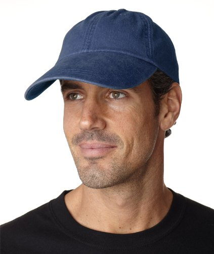 Adams Sunbuster Pigment Dyed Twill Cap With Extra Long Visor (Navy)