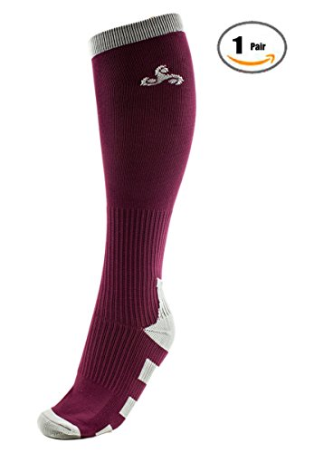 3 Pairs Men & Women Compression Performance Socks for Athletic , Sports, Running, Nurses, Shin Splints, Flight Travel, Pregnancy, Circulation, and