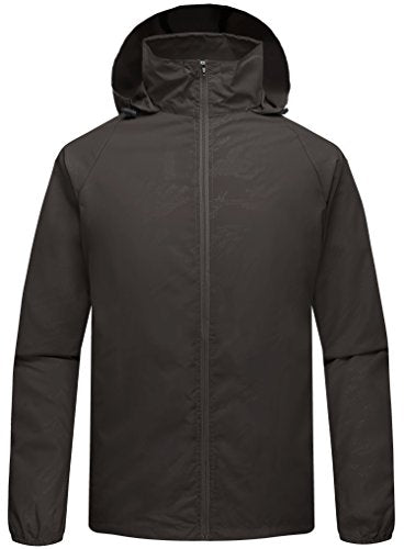 ZSHOW Men's Super Lightweight Skin Jacket Quick Dry Windproof UV Protect