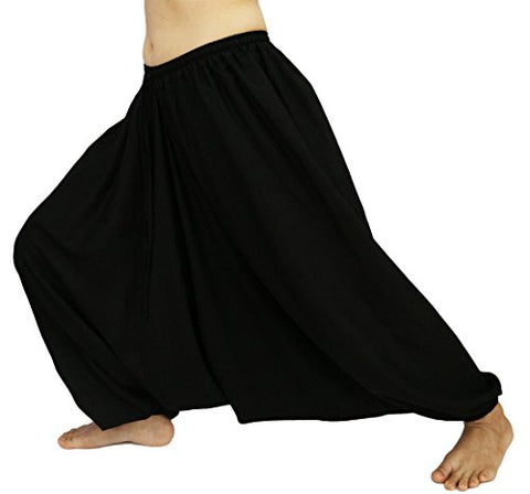 Lovely Creations Unisex Plus Size Baggy Aladdin Hippie Yoga Harem Casual
