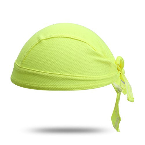 HYSENM Unisex Solid Color Sun UV Protection Cycling Bandana Cap Helmet Liner Skull Cap Sports Headscarf Quick Dry Sweat Proof