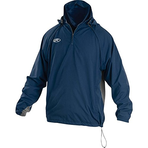 Rawlings Sporting Goods Mens Adult Jacket W Removable Sleeves &