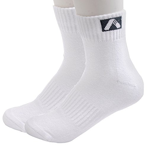 ADIBO White Breathable Low-Cut Socks Cotton Socks for Sports Running, Free