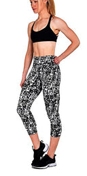 Active Workout Capri Leggings, Yoga Pants For Women With