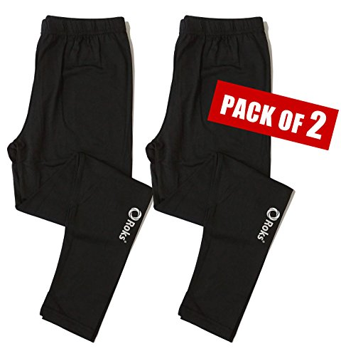 A.Two Winter HeatGear Thermal Pants Leggings Tights Bottoms for Men Compression Base Under Layer
