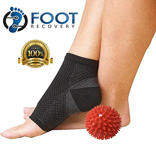 2 Pairs of FOOT RECOVERY Plantar Fasciitis Compression Socks With Heel Support. Breathable Fabric Keeps Feet Dry. - Plus Deep Tissue 3