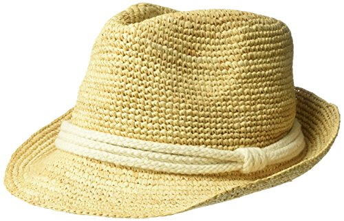 ale by alessandra Women s Marin Crochet Raffia Fedora Sunhat Packable -  Discount Sporting Store 0b8dc7ab40f3