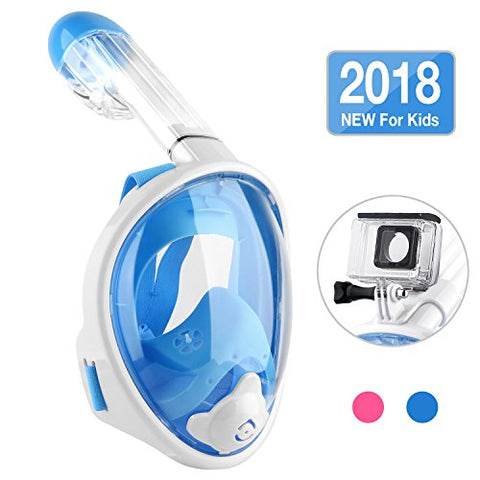 CASFANSTA Full Face Snorkel Mask 2018 Newest Version Panoramic 180° Foldable Snorkeling Mask With Detachable Camera Mount Anti-Fog Snorkeling for Adults &