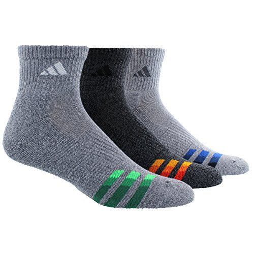 adidas Men's Color Cushioned 3-Pack Quarter